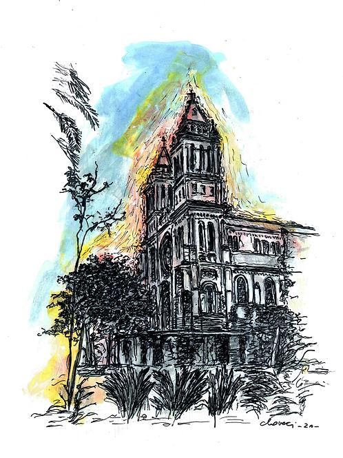 Gravura: Santuario Caravagio II