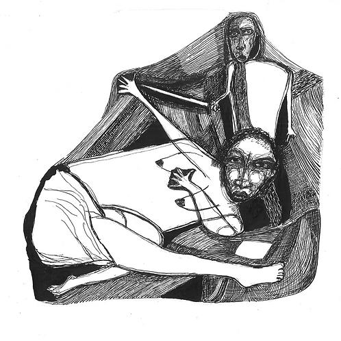 Gravura:Escravos Sentados
