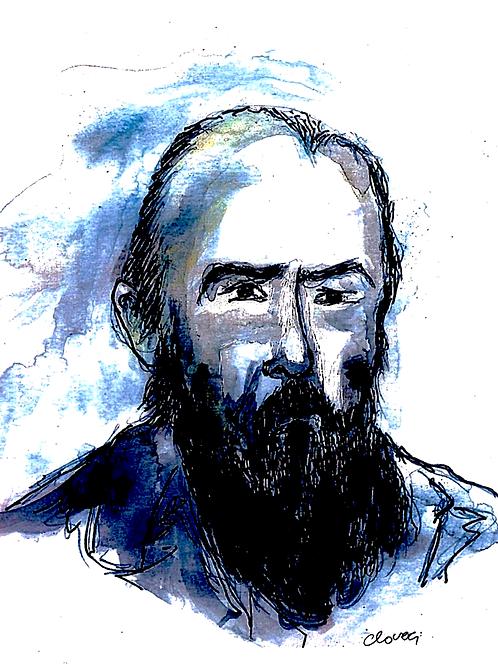 Gravura: Retrato de  Maiakovski