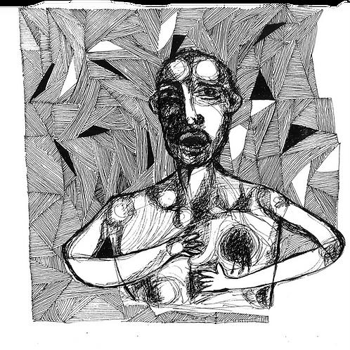 Gravura: Escravo com Ferimento no Peito
