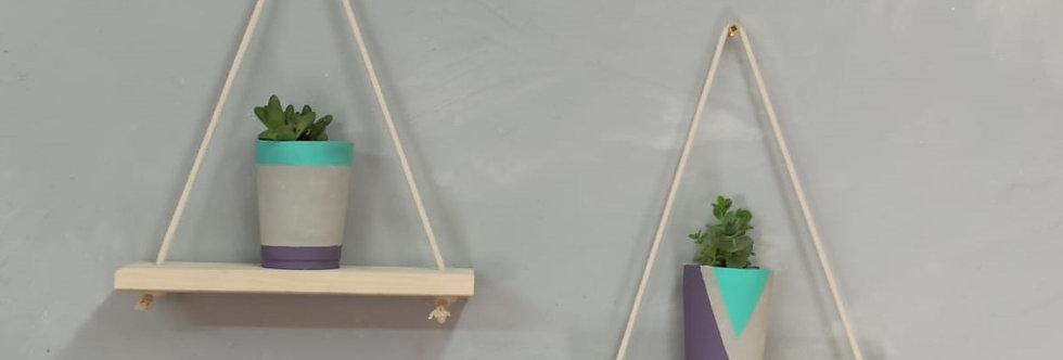ערכת יצירה -מדפי נדנדה ועציצוני בטון