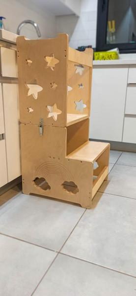 מגדל למידה מעץ - למטבח קטן.jpg