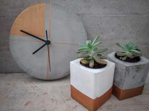 שעון בטון - נחושת - סדנת בטון