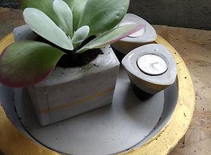 סדנת עיצוב בבטון, עציצי בטון בסדנה