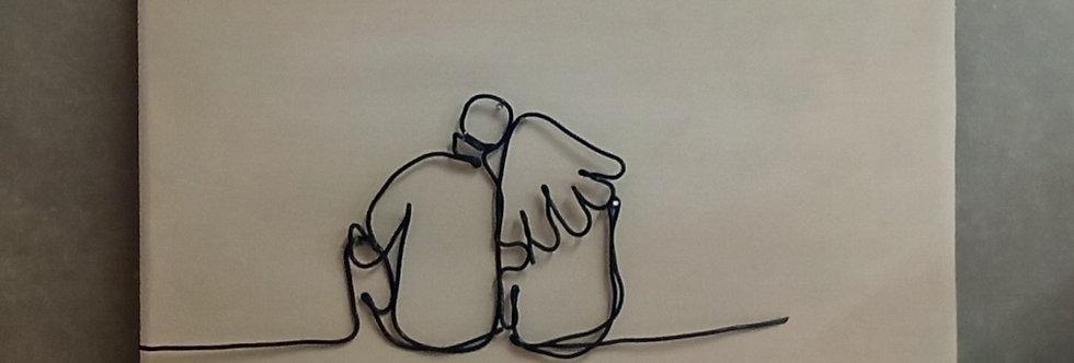 תמונת קיר עם ציור חוטי ברזל - זוג