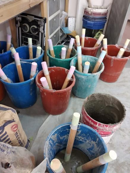 הכנת שרפרפים מבטון