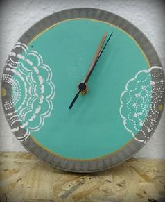שעון בטון - סדנת עיצוב בבטון טורקיז - הום סטיילנג