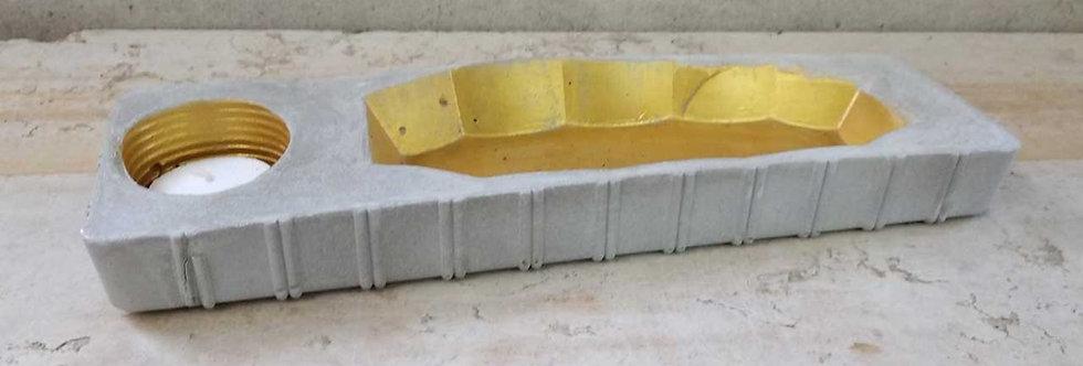 ערכת יצירה קערת תכשיטים מבטון ופמוט