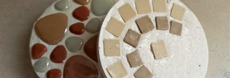 ערכת יצירה- תחתיות קפה בשילוב פסיפס
