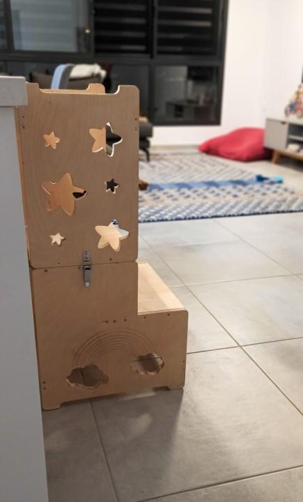 מגדל למידה מעץ - דוגמת כוכבים.jpg