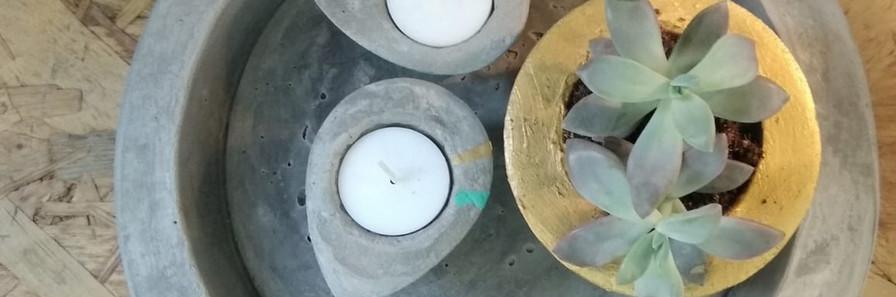 צלחת בטון | אקססוריז לבית מבטון | עיצוב בבטון
