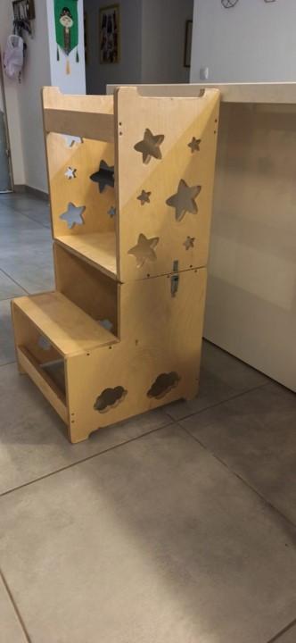 מגדל למידה מעץ - שולחן למידה מעץ.jpg