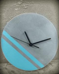שעון בטון- כחול