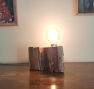 מנורת בול עץ - סדנת גופי תאורה