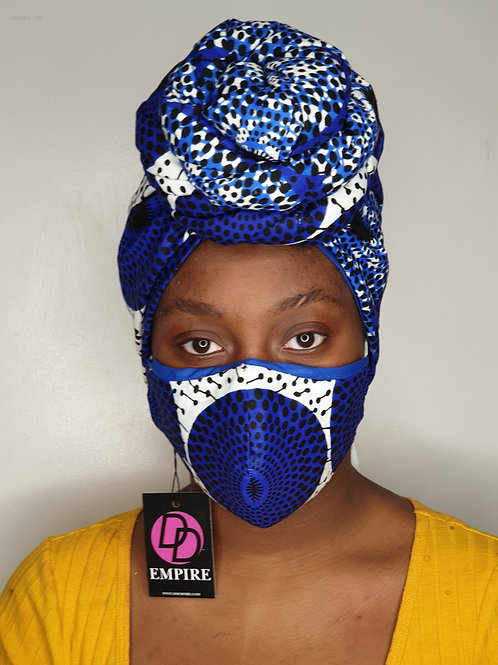 KOUBOURA13 - Matching Face Mask & Headwrap