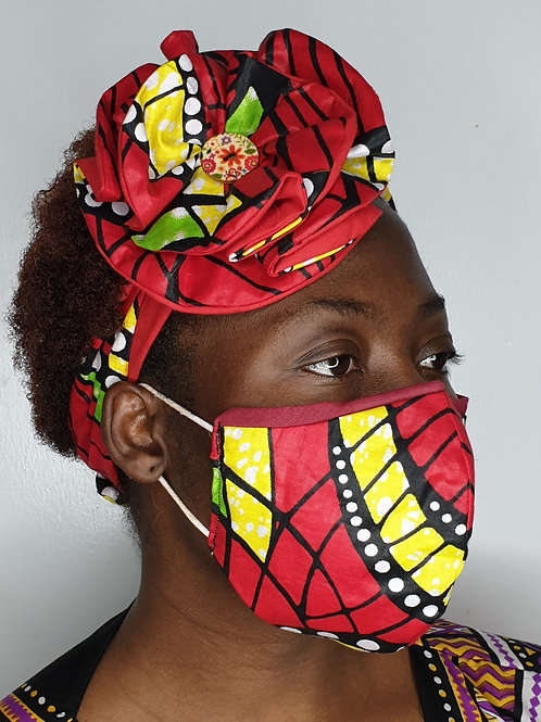 OLAIDE42 - Face Mask & Flower Headband set