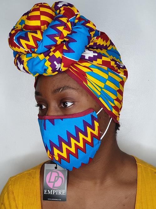 BAYO12 - Face Mask & Headwrap set