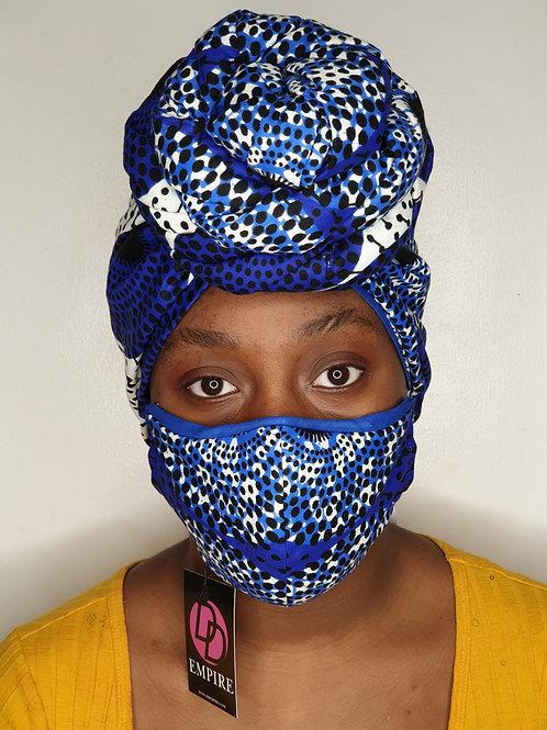 KOUBOURA15 - Matching Face Mask & Headwrap