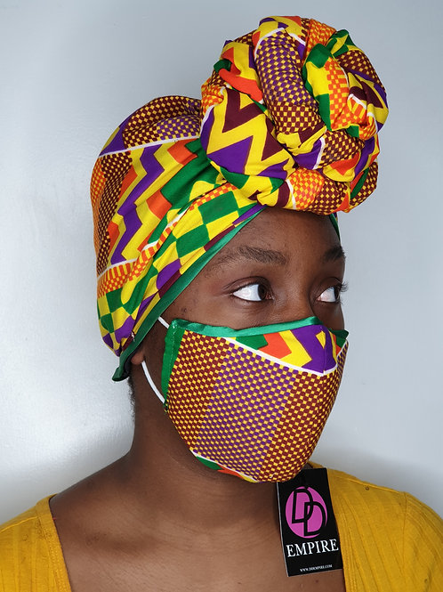 BAMIKÈ - Face Mask & Headwrap set