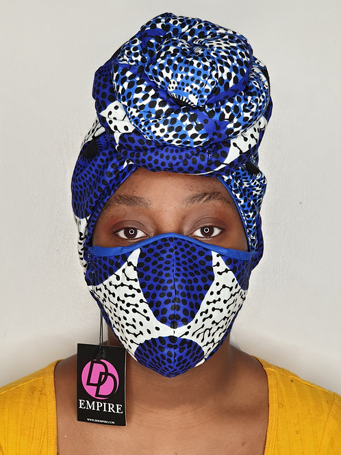KOUBOURA14 - Matching Face Mask & Headwrap
