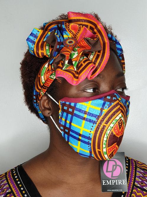 MORI-OLA62 - Face Mask & Flower Headband set