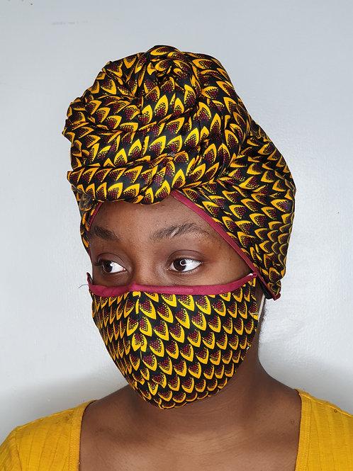 FEMI - Face Mask & Headwrap set