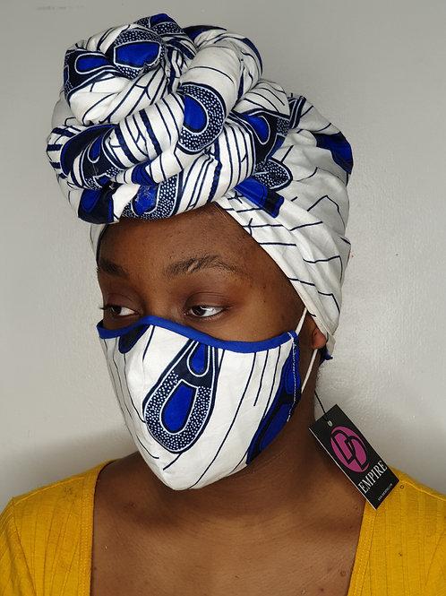 AYOMI12 - Face Mask & Headwrap set