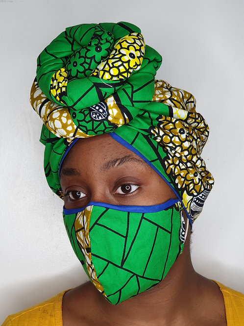 ASHABI - Face Mask & Headwrap set