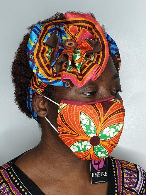 MORI-OLA65 - Face Mask & Flower Headband set