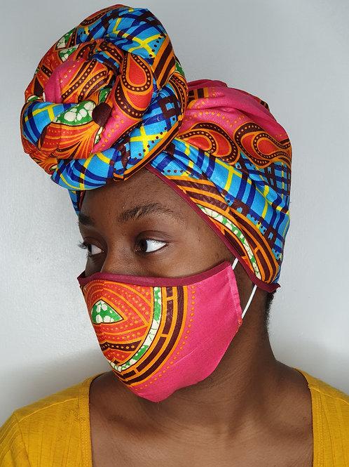 MORI-OLA14 - Face Mask & Headwrap set