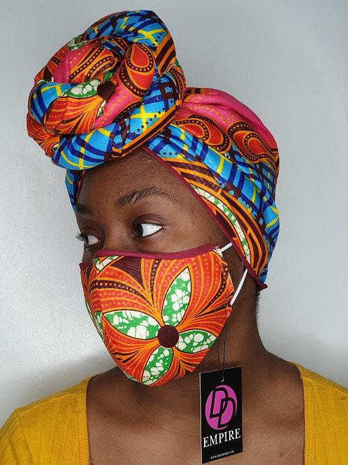 MORI-OLA15 - Face Mask & Headwrap set