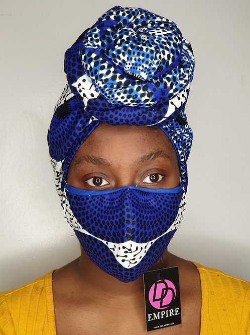 KOUBOURA - Face Mask & Headwrap set