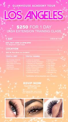 LOS ANGELES 1-Day Lash Class Deposit: October 23rd