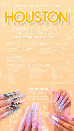 HOUSTON Nail Tour: 2-Day Class Deposit 3/27 & 3/28