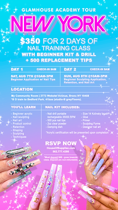 NEW YORK 2-Day Nail Class Deposit: August 7th & 8th