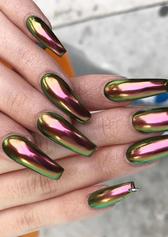 chrome nail art design