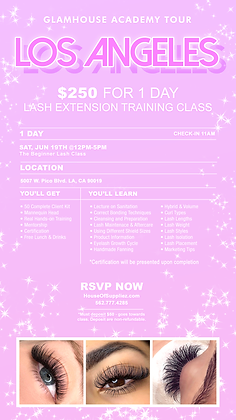LOS ANGELES 1-Day Lash Class Deposit: June 19th