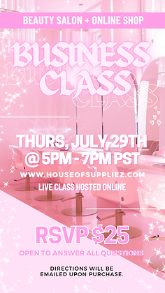 LIVE Business Class: July 29th