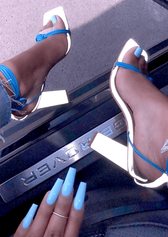 gel nail acrylic light blue