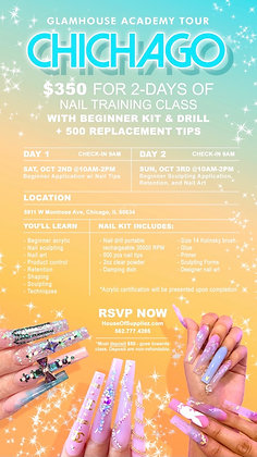 CHICAGO 2-Day Nail Class Deposit: October 2nd & 3rd