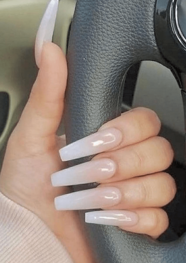 gel x white ombre nude nail art design