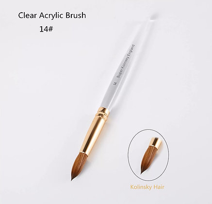 Size #14 Clear Acrylic Brush