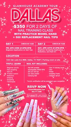 DALLAS 2-Day Nail Academy Deposit: 4/23 & 4/24