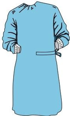 High Performance Standard Surgical Gown-Sterile