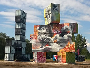 North West Walls, street art  met Arne Quinze als curator