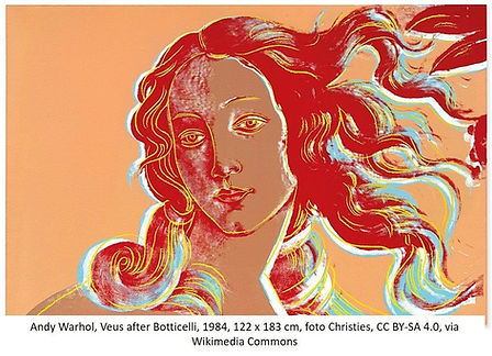 Warhol Venus after Botticelli Christies.