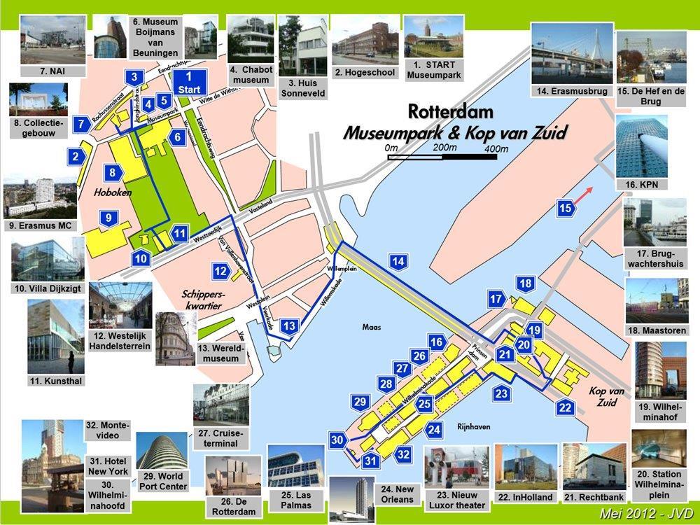 Rotterdam Museumpark Kop van Zuid