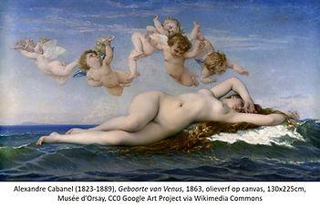 Alexandre Cabanel De geboorte van Venus.