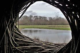'Observer', land-art van Will Beckers