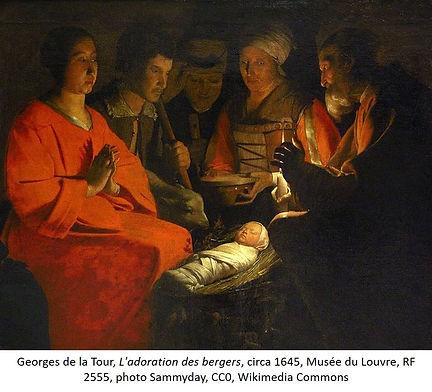 Georges de la Tour Adoration bergers, Lo